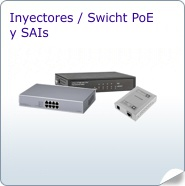 Inyectores PoE, Switch PoE y SAIs