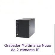 Grabadores NVR para 2 cámaras IP