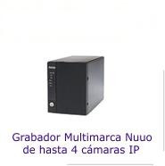 Grabadores NVR para 4 cámaras IP